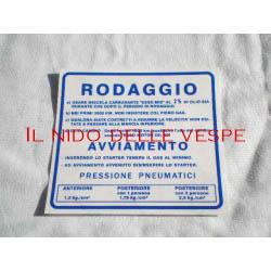 ADESIVO RODAGGIO COLORE BLU PER VESPA RALLY 180-200