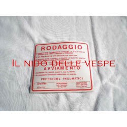ADESIVO RODAGGIO COLORE ROSSO PER VESPA 180-200 RALLY