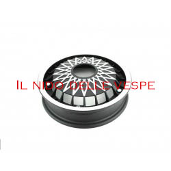 CERCHIO IN ALLUMINIO CROMATO E NERO PER VESPA 125 GT,SPRINT,RAL