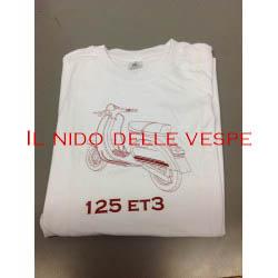 T-SHIRT UOMO VESPA 125 ET3 BIANCA