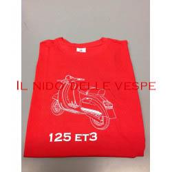 T-SHIRT UOMO VESPA 125 ET3 ROSSA