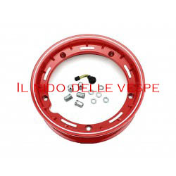 "CERCHIO VESPA COMPL 10 GL - PX - ET3 TUBELESS ROSSO"""