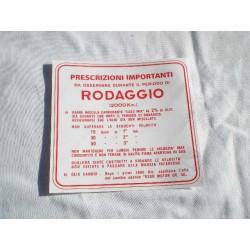 ADESIVO RODAGGIO 3 MARCE 2% PER VESPA VNB1-4,VBA