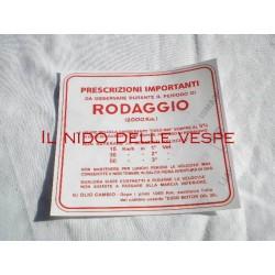 ADESIVO RODAGGIO 3 MARCE 5% VESPA V1-15T,V30-33,VM1-2,VU1,VN1-2,VL1-3,VB1,VNA