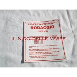 ADESIVO RODAGGIO 4 MARCE 5%PER VESPA GS 160,SS 180