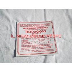 ADESIVO RODAGGIO 4 MARCE 6% PER VESPA GS 150 VS 1-5T