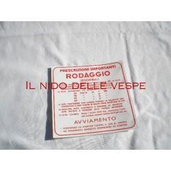 ADESIVO RODAGGIO 4 MARCE 2%VESPA VBB1-2,VNB5-6,GL,SUPER,GT,GTR,SPRINT,SPRINT VEL