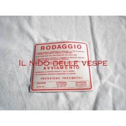ADESIVO RODAGGIO COLORE ROSSO VESPA 50SS 90 SS