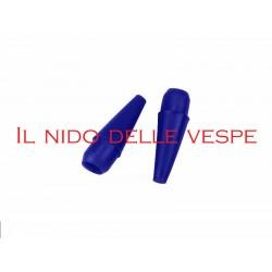 PARAURTO VESPA - LAMBRETTA ANTERIORE TERMINALE 16 MM BLU (2 PEZZI)