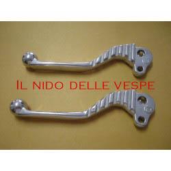 COPPIA LEVE CROMATE SPORTIVE PER VESPA GT,GTR,SPRINT,RALLY PX