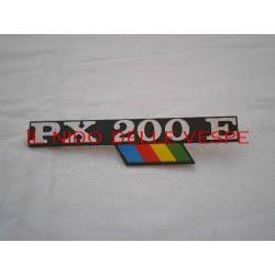 TARGHETTA LATERALE PX 200 E ARCOBALENO