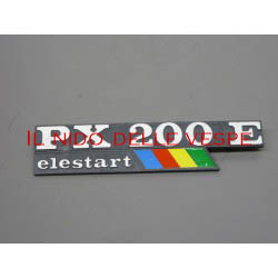 TARGHETTA LATERALE PX 200 E ELESTART ARCOBALENO