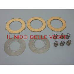 KIT COMPLETO DISCHI +DISCHI ACCIAIO+ MOLLE PER VESPA GS 150,GS 1