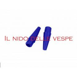 SALVASCOCCA PERIMETRALE VESPA - LAMBRETTA TERMINALE MM 14 BLU ( 2 PEZZI)