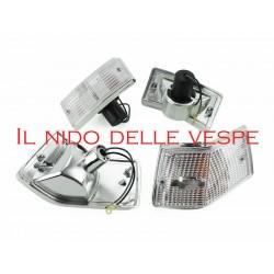 KIT 4 FRECCE VETRO BIANCO PER VESPA PX 125-150-200,ARCOBALENO,T5