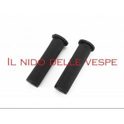 COPPIA MANOPOLE NERE PER VESPA PX 125-150-200 ARCOBALENO
