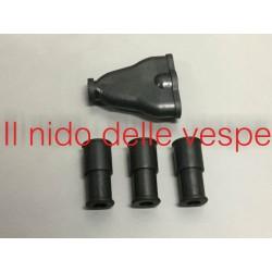 KIT GOMMINI NERO FARO BASSO PER VESPA V30-33,VM 1-2,VN1-2,VL1-3